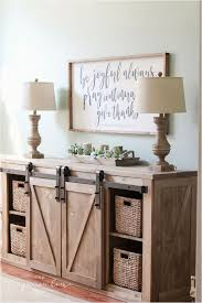 diy rustic tv stand with barn doors diy farmhouse media console table home decor