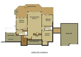 basement floor plans. Lake-or-mountain-walkout-basement-floor-plan-appalachia Basement Floor Plans