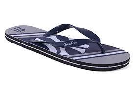 Happy Feet Slippers Size Chart Happy Feet Mens And Womens New York Yankees Big Logo Flip Flops