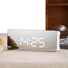 ... Stylish Digital Mirror Alarm Clock With Snooze And Night Display