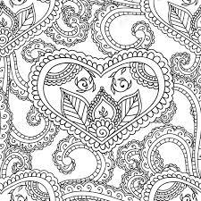 Disegni Da Colorare Per Gli Adulti Senza Soluzione Di Continuità Patternhenna Mehndi Doodles Astratto Floral Paisley Elementi Di Design Mandala