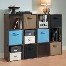 closetmaid black wooden 12 cube organizer shelf dark wood cubeicals