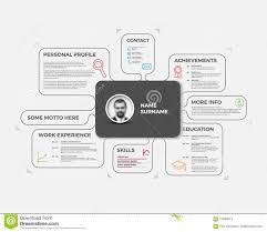 vector original creative cv resume template stock illustration vector original creative cv resume template stock photos