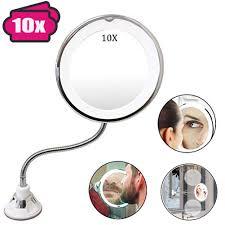 Flexible Lighted Makeup Mirror Amazon Com Gooseneck Flexible Led Makeup Lighted Mirror 360