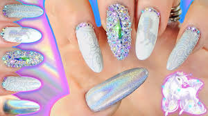 HOLO CHROME STAMPED UNICORN NAIL ART | Stamping with Powders ...