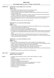 Resume For Job Examples Best Of Predictive Analytics Resume Samples Velvet Jobs