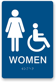 Image Amazon Custom Ada Braille Signs Ada Braille Womens Restroom Sign Ada Compliant Sign