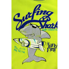 surfing shark boys pc distressed poly pajamas