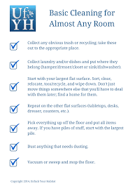 cleaning checklists unfuck your habitat