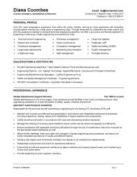 Resume Examples For Building Maintenance