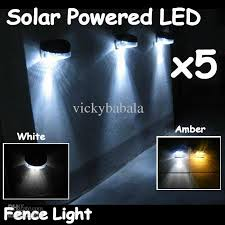 2018 new outdoor garden path wall solar powered led fence light lighting lamp whole of 5 from vickybabala 46 24 dhgate com