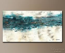 large teal abstract wall art
