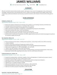 Good Administrative Assistant Resume Sample With Profile