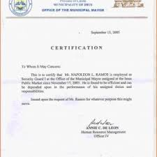 Format For Certificate Of Employment Certificate Of Employment Sample With Logo Best Of Request Letter