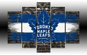 toronto maple leafs brick wall 5 panel frame image