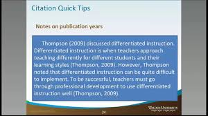 When To Include The Year Citations Academic Guides At Walden