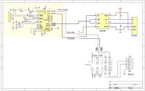 usb to rs232 uart ttl rs485 converter module ft232bm bl circuit picture · circuit picture