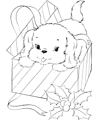 Pet Dog Coloring Pages Free Printable Pet Puppy For Christmas