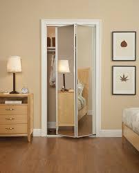 ideas mirror sliding closet. Elegant Bedroom With Small Frameless Mirrored Bifold Closet Doors Ideas, White Wooden Mirror Sliding Ideas
