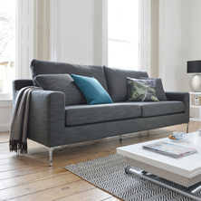 contemporary furniture sofa. oslo three seater sofa grey fabric contemporary furniture