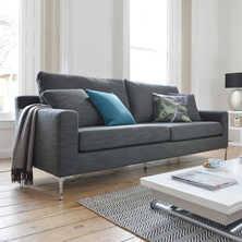 contemporary furniture sofa. oslo three seater sofa grey fabric contemporary furniture