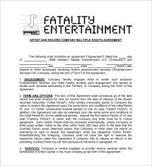music management contract 13 music contract templates free word pdf documents download
