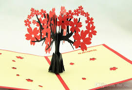 Mothers Greeting Card 3d Handmade Card Mothers Day Gifts Card 3d Envelope Romantic Sakura
