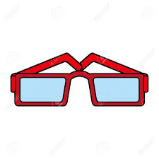 Specs Frame Design Square Frame Glasses Icon Image Vector Illustration Design