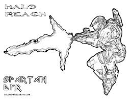 Small Picture Halo Coloring Pages Halo Reach Coloring Pages Halo Wars Coloring