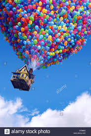 Up House Balloons Balloons Floating House Up 2009 Stock Photo Royalty Free Image
