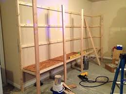 garage shelves build 2 wood storage home depot how to sy