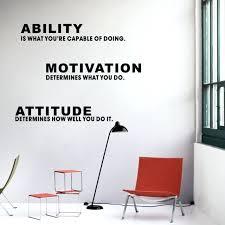 inspirational office decor inspirational es ability motivation attitude wall sticker art vinyl wall decal home office