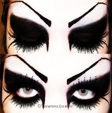 gothic eye makeup nail art make up bodyface painting