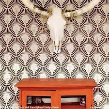wall deco gatsby glam art deco wall stencil wall decor target australia
