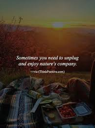 Best Nature Quotes Impressive Positive Quotes Sometimes You Need To Unplug And Enjoy Nature's