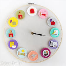 diy embroidery hoop clock amazing diy wall clock ideas that will make your home beautiful