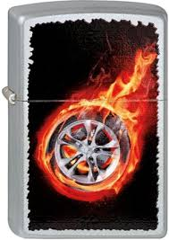 <b>Зажигалка Zippo</b> Classic 205 <b>Tire On</b> Fire (серебристый)