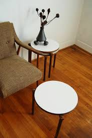 mid century modern see more mcm round stacking tables