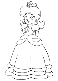 the princess peach coloring pages to view printable