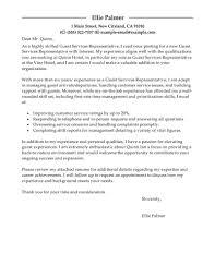 Cover Letter For Hotel Position Sample Cover Letter Hospitality