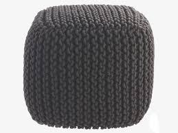 Habitat knit <b>pouf</b> in grey... | Lana, Tejidos, Puntos