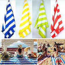 Image Bath Towel 76155cm Microfiber Quick Dry Stripe Beach Towel Soft Pouch And Elastic Hook For Hanging Off Ground Beach Blanket For Camping Travel Wx9 414 Peri Bath Dhgatecom 76155cm Microfiber Quick Dry Stripe Beach Towel Soft Pouch And