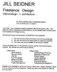 Graphic Design Intern Resume Gallery Of Assistant Interior Design ...