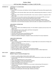 Supervisor Air Resume Samples Velvet Jobs