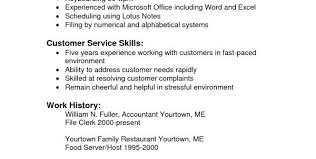 Sample Resume Customer Service Representative No Experience Customer