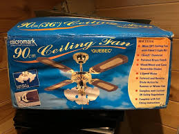 details about micromark 90cm quebec ceiling fan with light mm30066 new