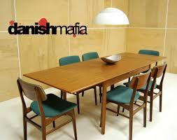 Mid Century Danish Modern Teak Dining Complete Set Table With