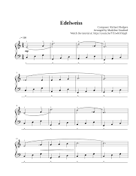 Suppose you have an assignment to write the music to a musical. Edelweiss Sound Of Music For Easy Piano Sheet Music For Piano Solo Musescore Com
