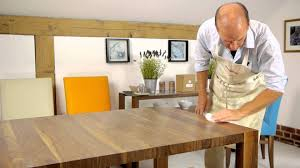 how to repolish your dining table