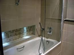 one piece bathtub shower combo glass door